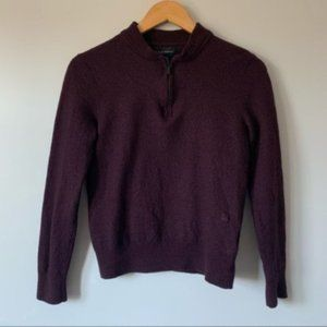 Club Monaco deep purple knitted pullover top M